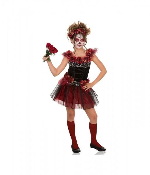 Day Of The Dead Sugar Skull Girls Costume