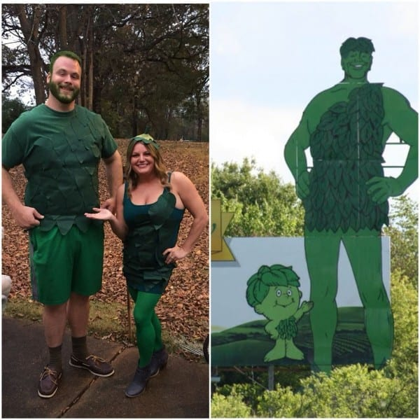 Jolly Green Giant & Sprout Halloween Costume For Couples