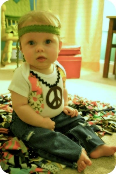 Hippy Baby Costume Tutorial