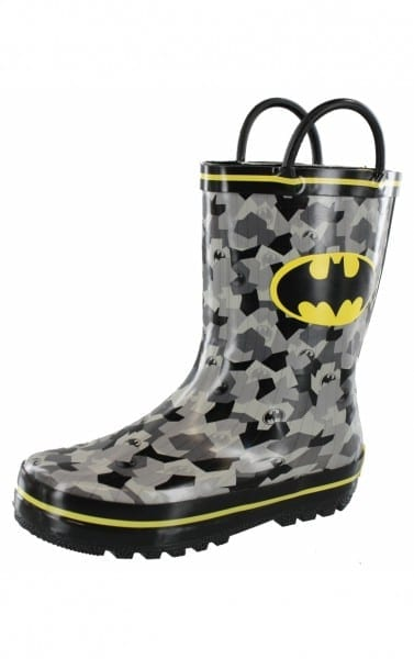 Dc Comic Batman Rubber Cold Weather Boys Rain Boots Free Shipping