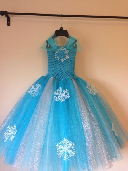 Elsa Tutu Dress Inspired And Free Hairpiece Size Nb To 10years