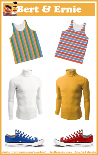Diy Bert And Ernie Costumes   Product Mashups   Shirts Found At