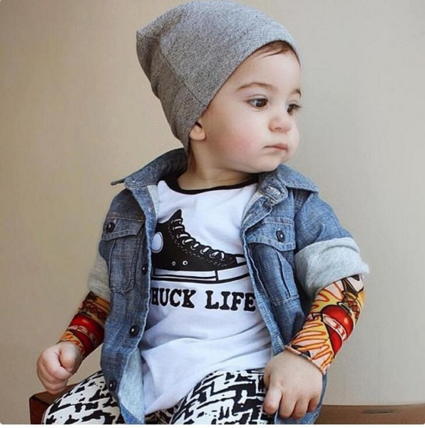 Dgfstm Ins Tattoo Sleeve T Shirt Toddler Boys Clothing Tees
