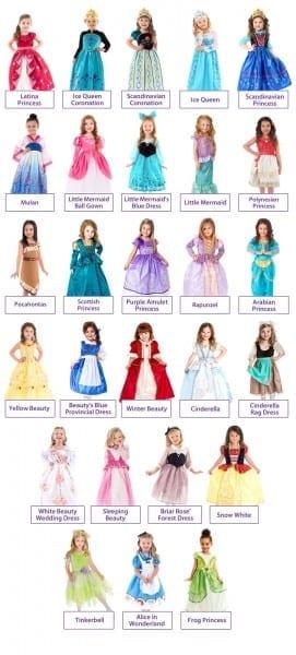 Disney Princesses Replica Ballgown Dress Up Set