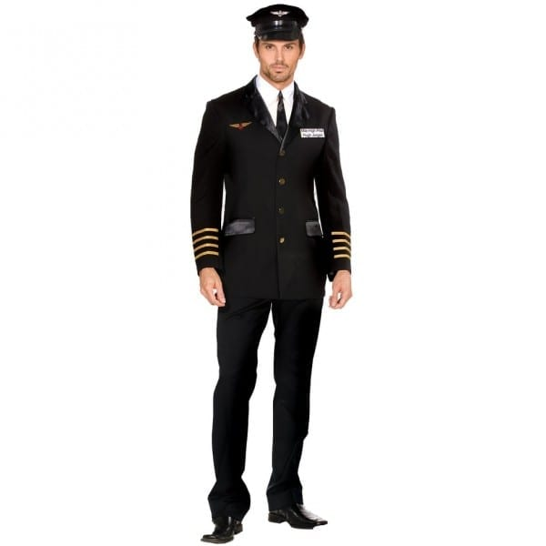 Shop Dreamgirl Mile High Pilot Hugh Jorgan Adult Costume
