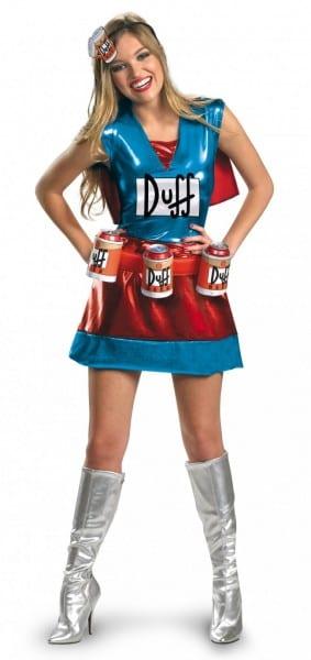 Duffwoman Costume   Simpsons Duffman Beer Dress