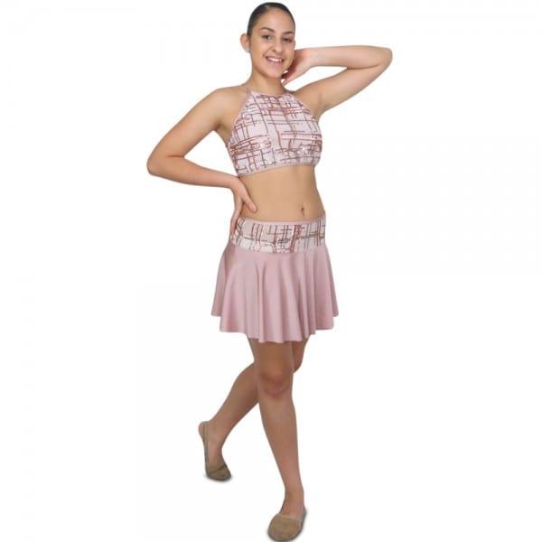 Dusty Rose Lyrical Dance Costume