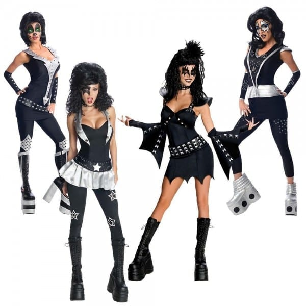 Kiss Costumes Adult Female 70s Rock Star Group Halloween Fancy