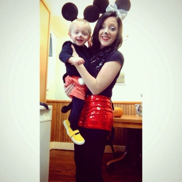 Mother And Son Halloween Costume  Mickeyandminniemouse  Diy