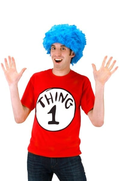 Dr Seuss Thing 1 Adult T