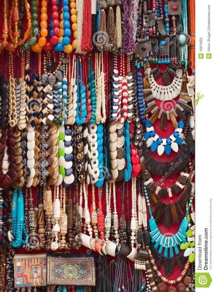 Egyptian Ethnic Costume Jewellery Stock Photo