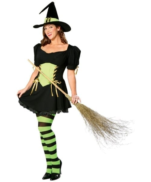 Adult The Emerald Witch Plus Size Halloween Costume