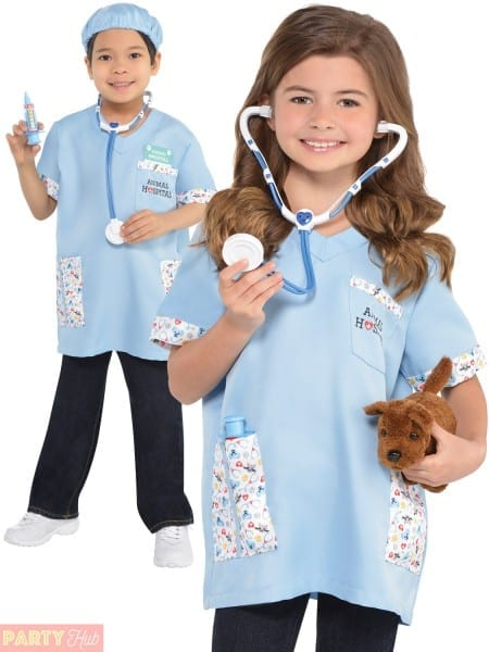 Kids Vet Costume Boys Girls Animal Doctor Fancy Dress Book Week