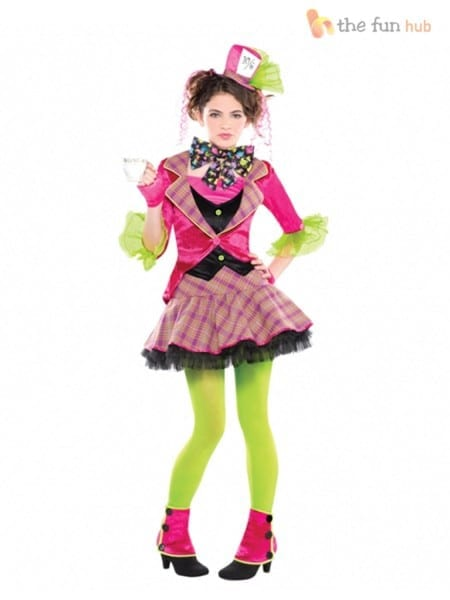 Amscan Kids Mad Hatter Girls World Book Day Fancy Dress Costume 6