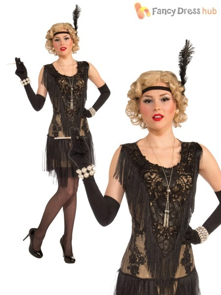 Adults Deluxe Flapper Costume Ladies 1920s Great Gatsby Fancy