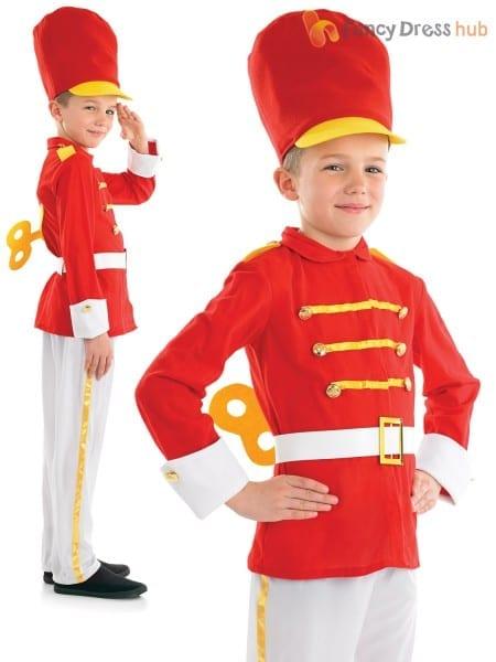 Boys Toy Soldier Nutcracker Costume Christmas Fancy Dress Costume