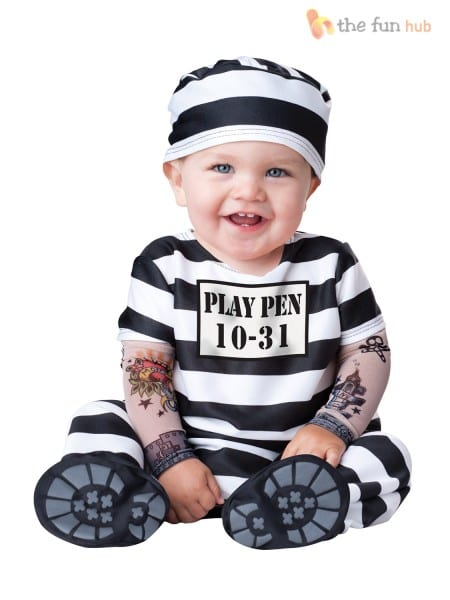 Boys Girls Baby Fancy Dress Up Pirate Prisoner Costume Infant 6 12
