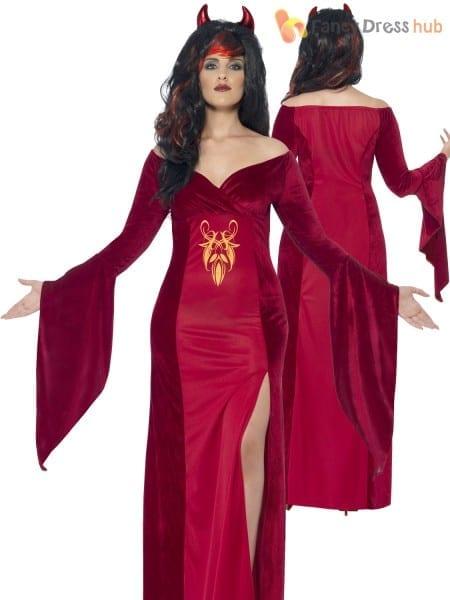 Curves Devil Temptress Costume Ladies Halloween Sorceress Fancy