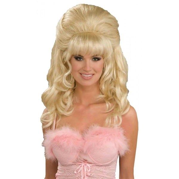 Fembot Costume Wig Adult 60s Blonde Halloween Fancy Dress
