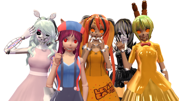 Five Nights At Freddy's 4 Halloween Edition Mmd By Cylops2000 On
