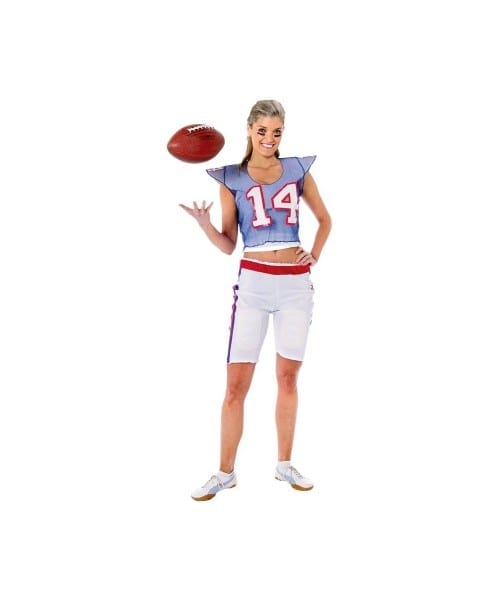 Adult Football Player Girl Costume