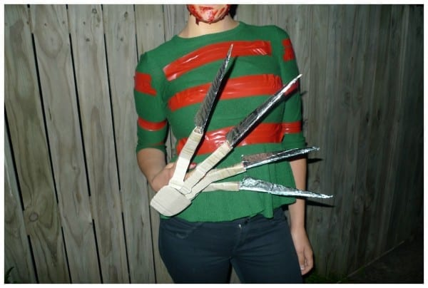 Homemade Freddy Krueger Glove And Jumper