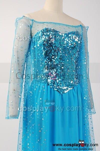 Frozen Snow Queen Elsa Fancy Dress Costume Cosplay