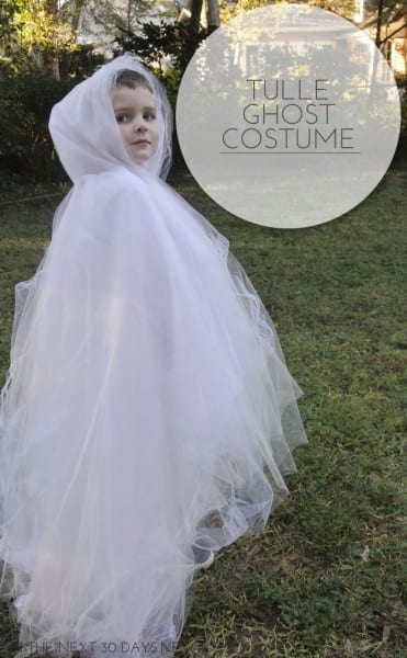 Diy Tulle Ghost Costume