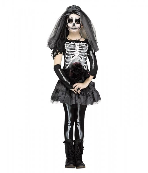 Ghastly Skeleton Bride Girls Costume