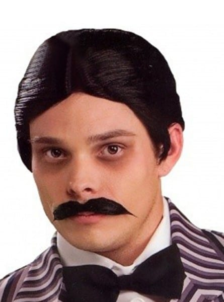 Gomez Addams Wig & Moustache Kit  Express Delivery