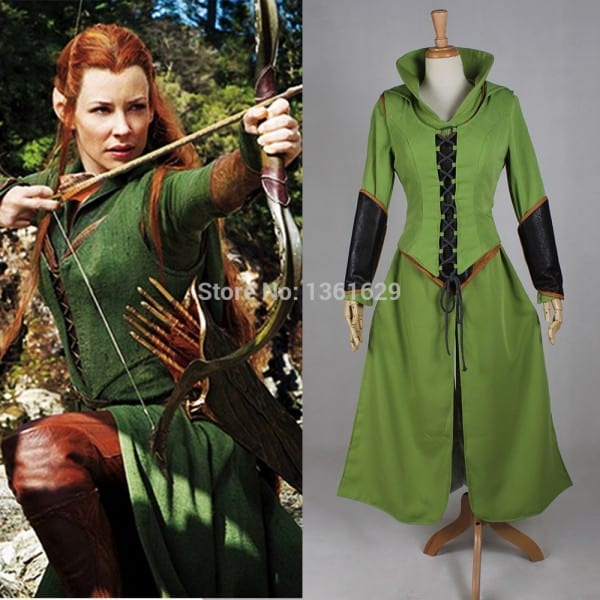 Good Quality Adult Anime Halloween Tauriel Cosplay Costumes Hobbit