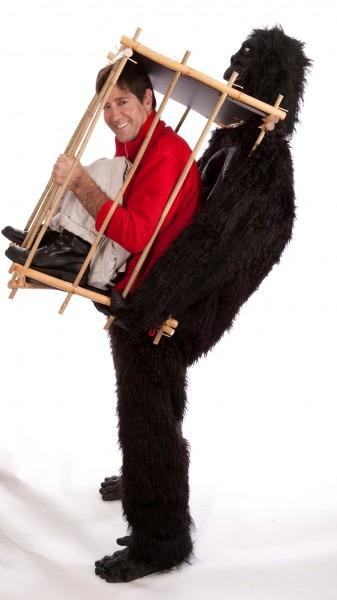 Gorilla And The Cage Funny Costume