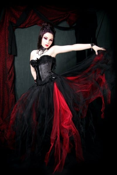 Gothic Wedding Dresses Red And Black