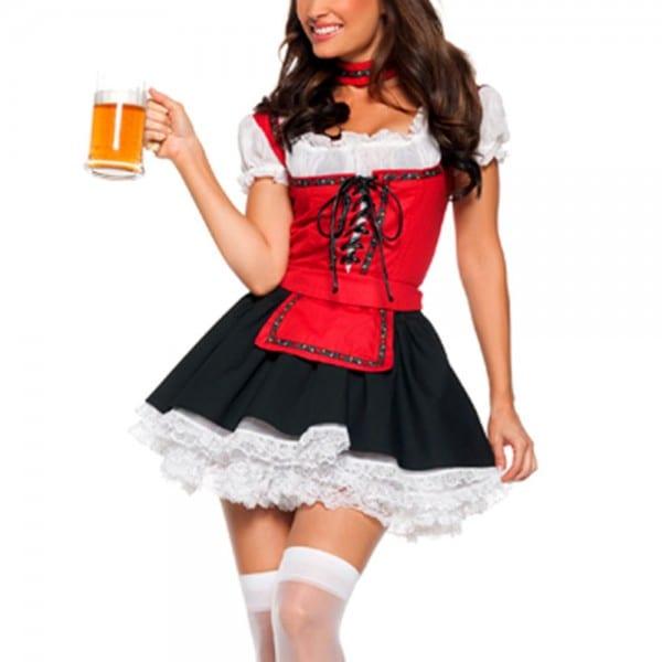 Halloween Service Uniforms Temptation Beer Girl Oktoberfest