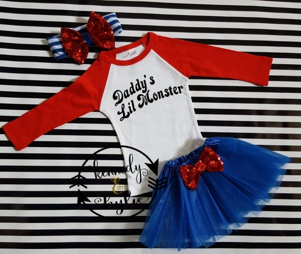 Harley Quinn Suicide Squad Birthday Tutu Costume For Baby Girls