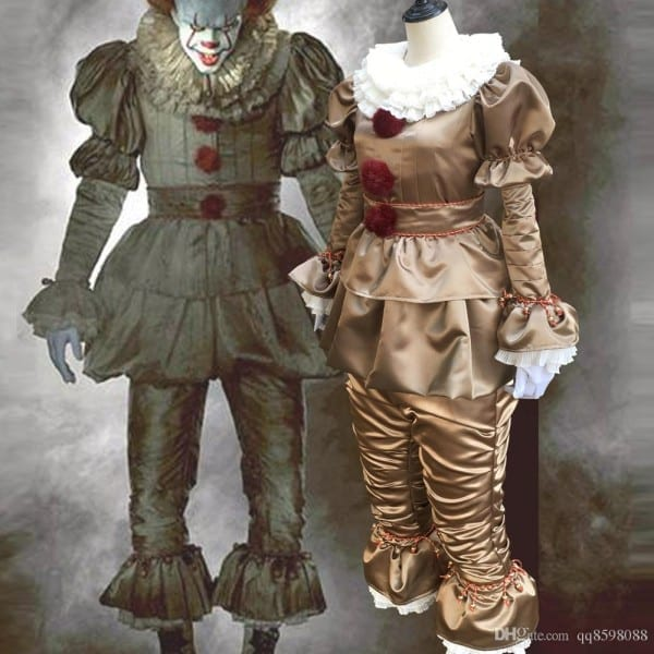 Hot Movie Stephen King's It Pennywise Costume Mascot Scary Joker
