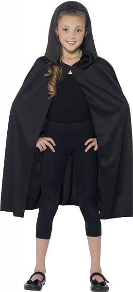 Buy Smiffys Kids Hooded Cape, Black Long, 44203 In Cheap Price On