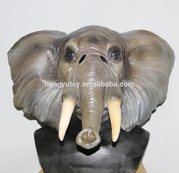 Realistic Animal Costume Latex Elephant Mask For Adult Maquarade