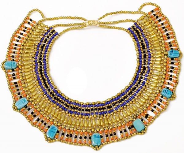 Buy Cleopatra Necklace Collar Ancient Egyptian Queen Costume