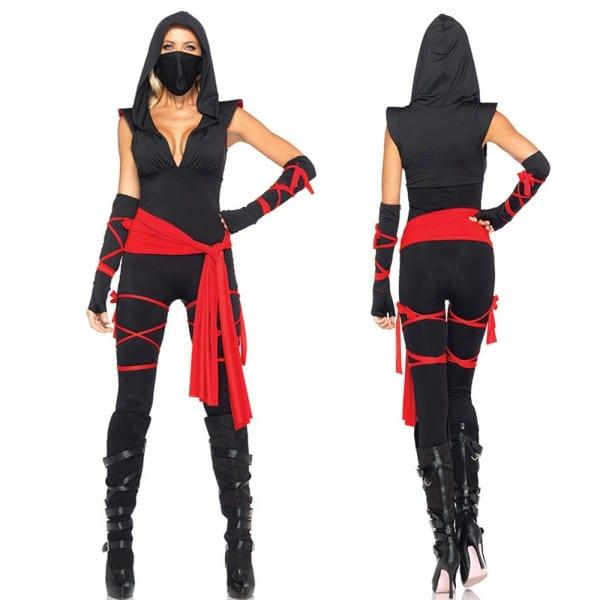 Halloween New Ninja Cosplay Mask Black Hooded Costume Assassin