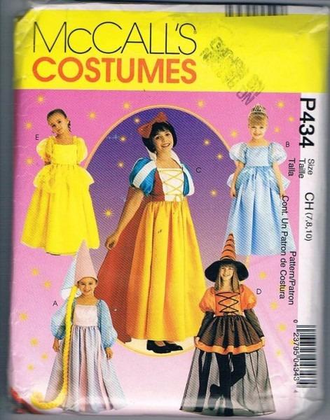 Mccall's 8895 Girls Storybook Costumes Cinderella Belle