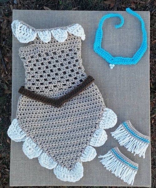 Infant Photo Prop Crochet Princess Dress Baby Girl Photo