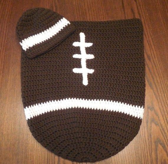 Infant Football Set Newborn Cocoon Set Baby Boy Football