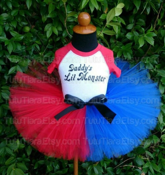 Harley Quinn Suicide Squad Tutu Costume Set W  Daddy's Lil