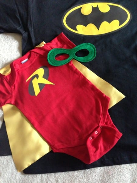New Dad Gift Set Or New Big Brother, Batman And Robin T