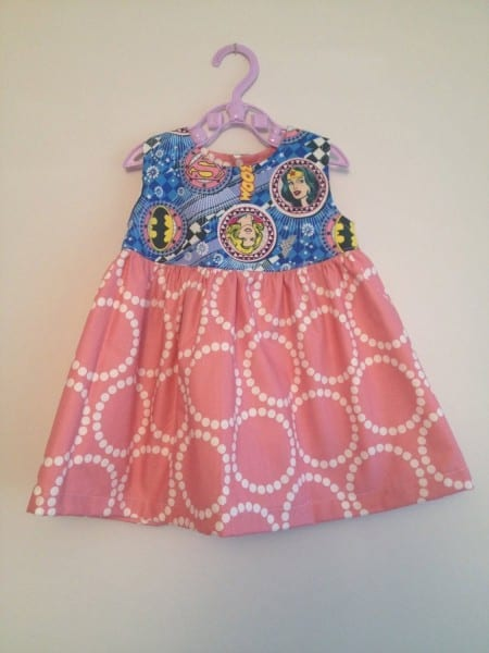 Baby Superhero Dress Using Wonder Woman   Supergirl   Batgirl