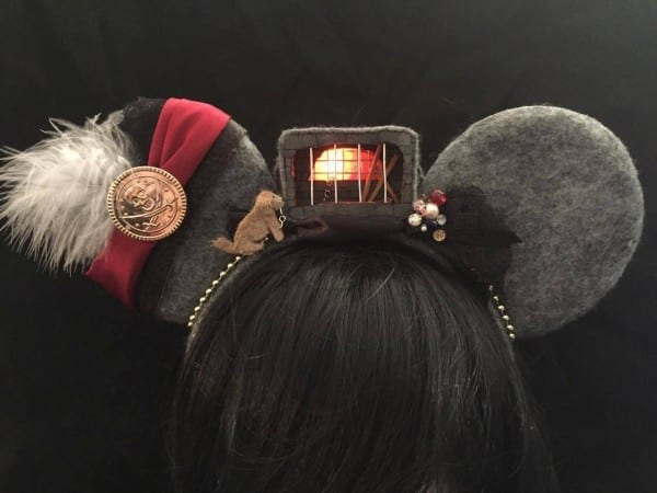 Light Up 3d Pirates Of The Caribbean Inspired Ears With Light