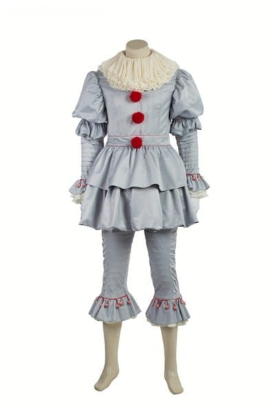 2017 It Movie Pennywise The Clown Outfit Cosplay Costume