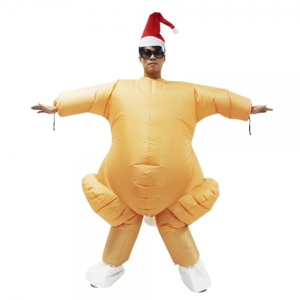 Inflatable Roast Turkey Costume Halloween Chicken For Adults