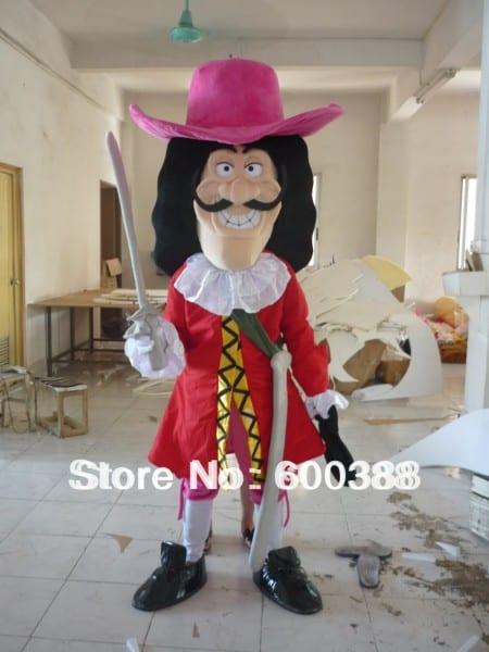 Jake The Neverland Pirates Mascot Costume Adult Captain Hook